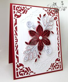 Quilling card by pinterzsu on DeviantArt Paper Quilling Cards, Paper Quilling Flowers, Paper Quilling Patterns, Paper Quilling Jewelry, Quilling Paper Craft, Paper Crafts, Diy Paper, Quilling Videos, Paper Quilling For Beginners