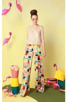 "The 70s diva housewife in me wants to have a ""Ice Storm"" esque house party in these pants."