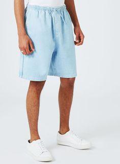 Short coupe droite en jean bleu par LTD - 50% off Brands & Accessories - Promos - TOPMAN FRANCE