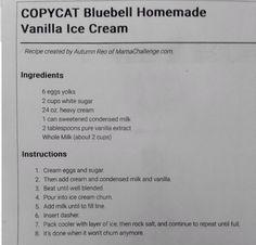Copycat Blue Bell Homemade Vanilla Ice Cream
