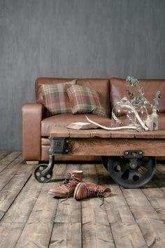 "The Reclaimed Mill Cart Coffee Table is a unique interpretation of industrial style. Update your living space with our new blog post - read ""Get Indigo's Industrial Revolution Look"" here» https://www.indigofurniture.co.uk/journal/get-indigos-industrial-revolution-look/?utm_source=social&utm_medium=blog&utm_campaign=springspendandsave #table #coffeetable #furniture #furnituredesign"