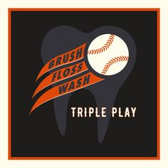 TURN A TRIPLE PLAY in your dental hygiene routine by brushing, flossing, and using alcohol-free mouthwash every day! Dental Quotes, Dental Humor, Dental Hygienist, Dental Assistant, Surgery Logo, Dental Implant Surgery, Dentist Day, Dentist Appointment, Emergency Dentist