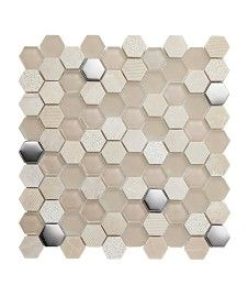 Information about Lunar™ Fusion Beige Tile Hexagon Mosaic Tile, Mosaic Bathroom, Kitchen Wall Tiles, Wall And Floor Tiles, Power Shower, Topps Tiles, Border Tiles, Tile Stores, Black Tiles