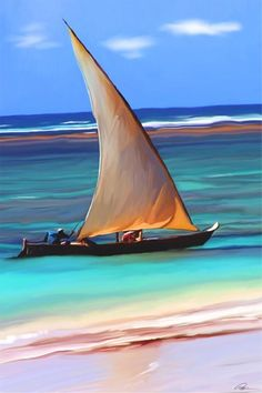 Zanzibar Sailing, in ancient dhows, Tanzania - Places To Travel, Places To See, Travel Things, Sail Away, Africa Travel, Strand, Beautiful World, Sailing Ships, Surfing