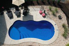 Inground Pool Designs, Small Inground Swimming Pools, Vinyl Pools Inground, Lap Pools, Indoor Pools, Backyard Pool Landscaping, Small Backyard Pools, Backyard Patio Designs, Pool Decks