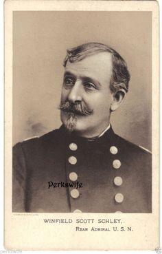 Winfield Scott Schley Rear Admiral USN Reprint Photograph & Biography Civil War