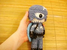 Captain America Amigurumi, based on the design in the movie, is about 20cm (8inches) tall. The doll cannot stand by itself. It is quite easy to make. You just need a lot of patience to do all those little details. So please relax and enjoy the pattern.