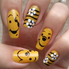 pooh by Jelena Milic #nail #nails #nailart