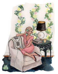 Girl Illustration / Illustrazione ragazza - Art by #Inslee Haynes
