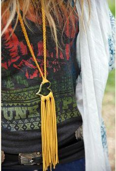 dakota leather heart necklace