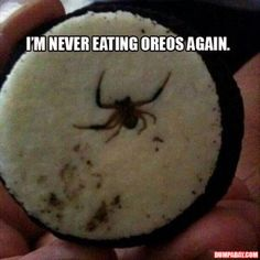 Oh. Hell. NO. I will never eat another oreo again.
