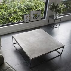 Stylish concrete coffee table meas 100x100x30 cms / industrial decor or bachelor pad? 2-3 weeks lead time