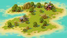 Затерянный в Балибу on Behance Game Level Design, Game Design, Game Environment, Environment Concept Art, Game Art, Vikings Game, Map Games, Jungle Art, Isometric Design