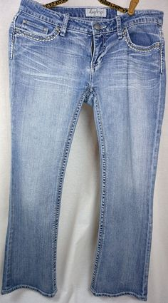 8336c2111ef DAYTRIP by BKE BUCKLE Size 31 Leo Bootcut Flap Pocket Womens JEANS ACTUAL  35x31 #Buckle