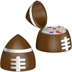 Inflatable Football Cooler, Brown