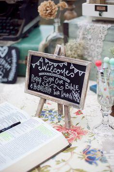 sign a bible at wedding