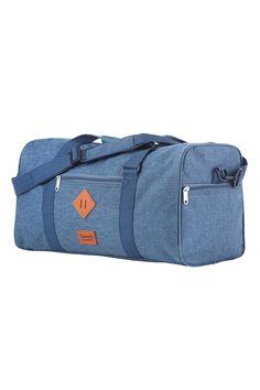 Příruční taška modré barvy z kolekce Hipster Hipsters, Travel Bags, Notebook, Jeans, Products, Fashion, Travel Handbags, Moda, Fashion Styles