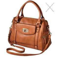 Women's Merona® Satchel Handbag from Target Brand new I bought it online and just never used it. Tags still on it. Removable cross body strap. Lots of pockets. Merona Bags Satchels