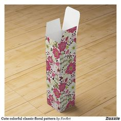 Shop Cute abstract floral pattern wine gift box created by ForArt.