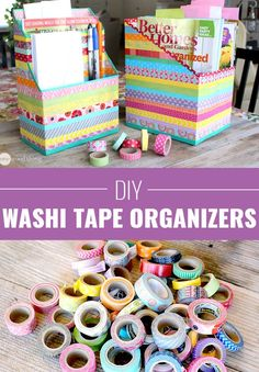 Cool Arts and Crafts Ideas for Teens, Kids and Even Adults | Cheap, Fun and Easy DIY Projects, Awesome Craft Tutorials for Teenagers | School, Home, Room Decor and Awesome Gift Ideas | Washi-Tape-Cereal-Box-Organizers | http://diyprojectsforteens.com/arts-and-crafts-ideas-for-teens