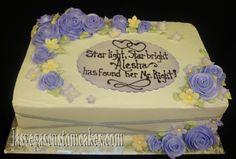 wedding shower cakes | Bridal Shower Lavender Roses Cake