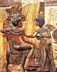 Toutakham et sa Femme (+- 1350 AC)  Antiquité