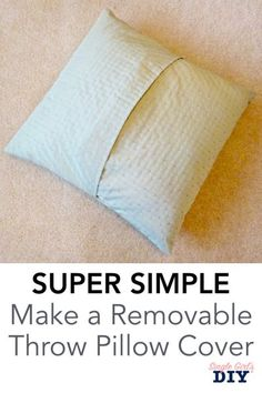 diy pillows these six simple steps to learn how to make your own throw pillow covers. This quick DIY project will keep your living room looking fresh for every season. Sewing Throw Pillows, Diy Pillows, Make Your Own Pillow, How To Make Pillows, Pillow Slip Covers, Decorative Pillow Covers, Cushion Covers, Home Design, Design Design