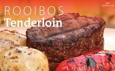 Tenderloin with a Rooibos tea marinade How To Make Tea, Food To Make, Beef Tenderloin, Yummy Appetizers, Tea Recipes, 4 Ingredients, Recipe Of The Day, Recipe Using
