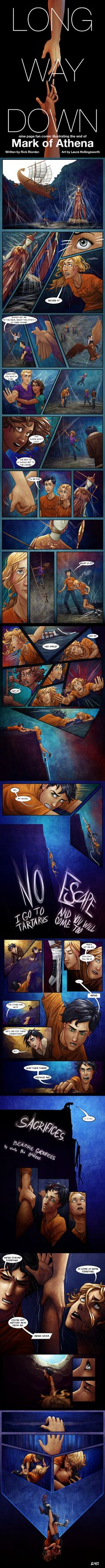 Long Way Down - Complete Comic - Mark of Athena by lostie815.deviantart.com on @deviantART WWWHHHYYYYYY..... but, so beautiful...