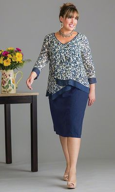 Duxbury Blouse with Tank / MiB Plus Size Fashion for Women / Spring Fashion http://www.makingitbig.com/product/5137