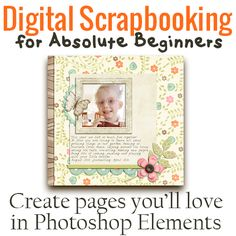 Spend an hour with me and I'll show you how to create gorgeous digital scrapbook pages! Have you experienced the joy of seeing a captive audience leafing through the pages of a beautiful scrapbook you've designed and printed just for them? Join me for Digital Scrapbooking for Absolute Beginners to learn the simple steps you…[Continuereading]