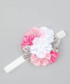 Take a look at this Pink & Gray Bouquet Headband by Buttercream Babe on #zulily today!