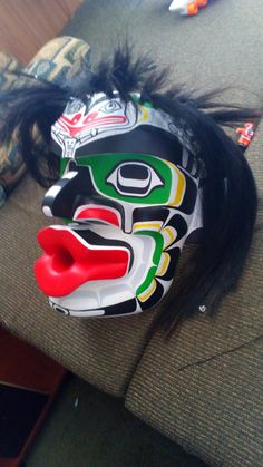 Dzunukwa-by Joshua Dawson Masquerades, Leather Mask, America And Canada, Indigenous Art, West Side, Canadian Artists, Totems, Native Art, Love Her Style