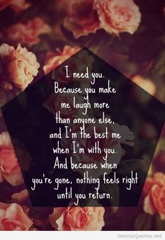 I need you love quotes pic