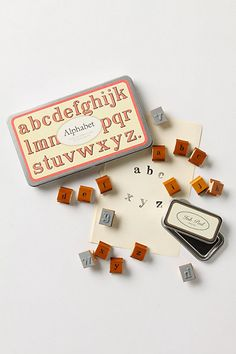 Alphabet Stamp Set - Anthropologie.com
