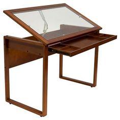 Ponderosa Glass Topped Table - Sonoma Brown