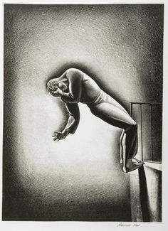 Republicans win Senate. James Inhofe, who calls climate change a hoax, takes over committee responsible for environmental issues. Nighmare.Rockwell Kent. Lithograph. 1942.