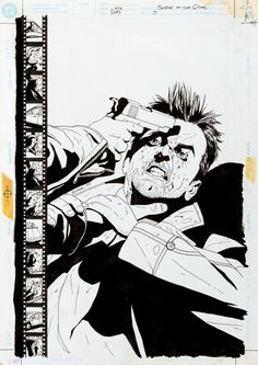 Original cover art by Michael Lark from Scene of the Crime #1-3, published by DC Comics Vertigo, 1999. The bottom image was a promotional pin-up for the series. This was a great story; it's kind of a...