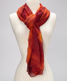 Take a look at this Orange Watercolor Scarf by La Fiorentina on #zulily today! $14 !!