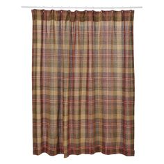 VHC Kendrick Burlap Plaid Shower Curtain - 17794