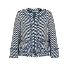 Buy Marella Macario Stripe Jacket, Navy Online at johnlewis.com