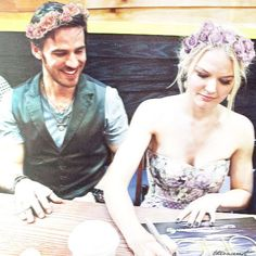 Captain Swan Flower Crowns - Colin O'Donoghue, Jennifer Morrison