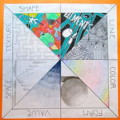 Elements of art visual aid example Middle School Art Projects, Art School, Secondary School Art, Intro To Art, Classe D'art, 8th Grade Art, Art Worksheets, Ecole Art, Art Curriculum