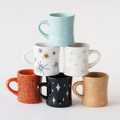 Retro+Diner+Coffee+Mugs+|+dotandbo.com