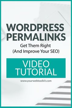 Wordpress slugs (or permalinks) are an important part of SEO optimisation. This really quick video shows you how to update the permalinks on your WordPress website. Seo Guide, Seo Tips, Wordpress Seo Plugin, Seo Basics, Seo Tutorial, On Page Seo, Seo Optimization, Blogging For Beginners, Medical Technology