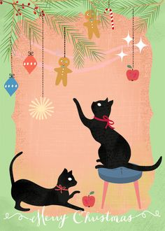 """Cat´s Christmas"" by Elisandra  October 2014"