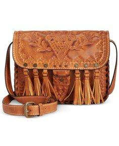 Designer Clothes, Shoes & Bags for Women Tooled Leather Purse, Brown Leather Handbags, Leather Crossbody, Leather Fringe, Crossbody Bags, Stylish Handbags, Purses And Handbags, Patricia Nash, Handbag Accessories
