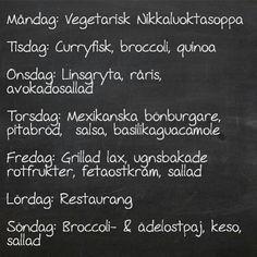 Vecka 23 och vår matsedel för veckan bjuder på favoriter, grill och restaurang :) #veckansmatsedel #vadblirdetförmat #vegetarisk #inspiration #middag #härligavardag