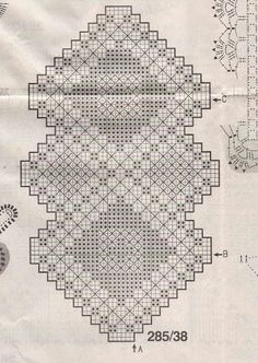 Scheme crochet no. 2303 - Her Crochet Filet Crochet Charts, Crochet Motifs, Crochet Doilies, Crochet Stitches, Diy Crafts Crochet, Crochet Home, Crochet Projects, Free Crochet, Crochet Bookmark Pattern