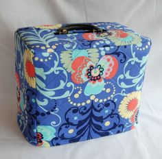 Singer Featherweight 221 Sewing Machine Custom Handmade Case Cover in Amy Butler Fabric. $20.00, via Etsy.